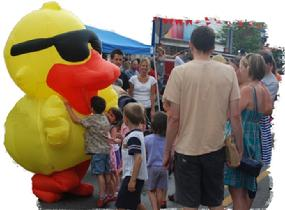 duck costume, inflatable duck costume, inflatable costume, giant duck