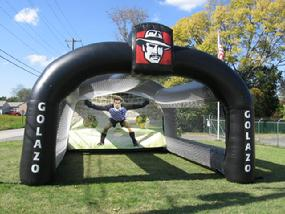 Pizza Patron Giant Inflatable Soccer Kick
